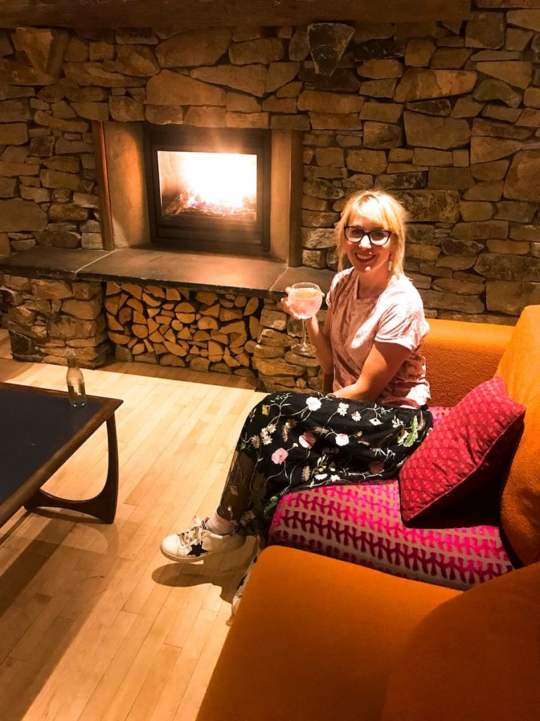 roaring fire Bedruthan hotel and spa