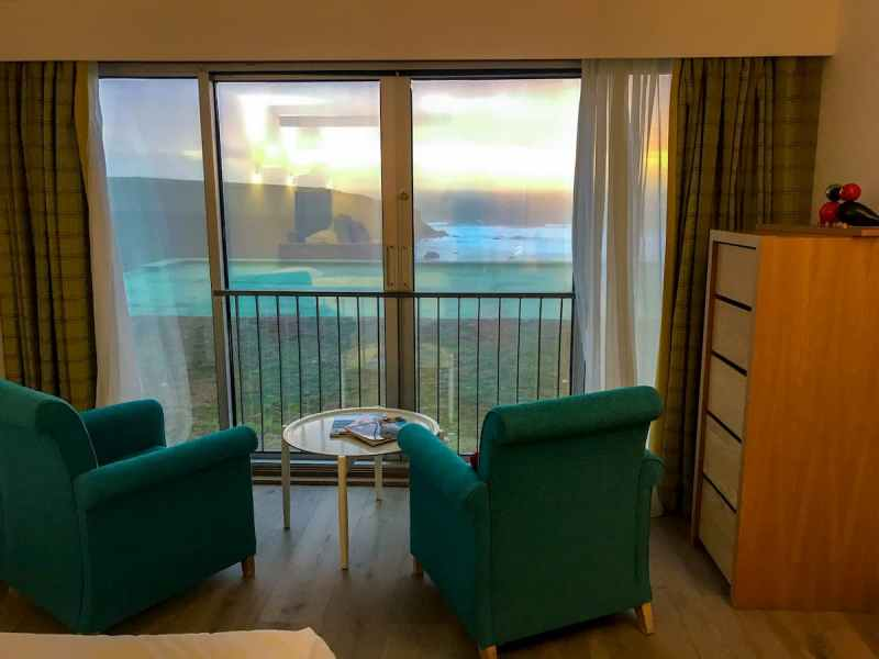 Bedruthan hotel and spa family sea view bedroom