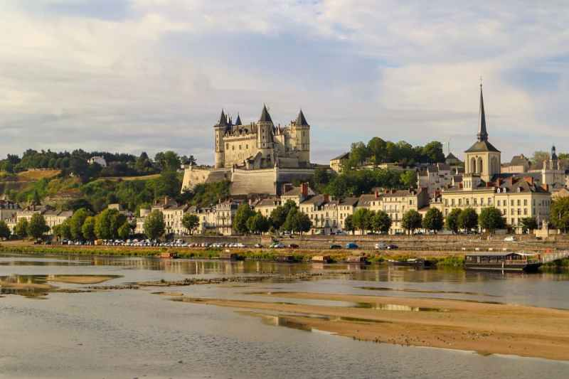 Chateau de Saumur and River Loire France