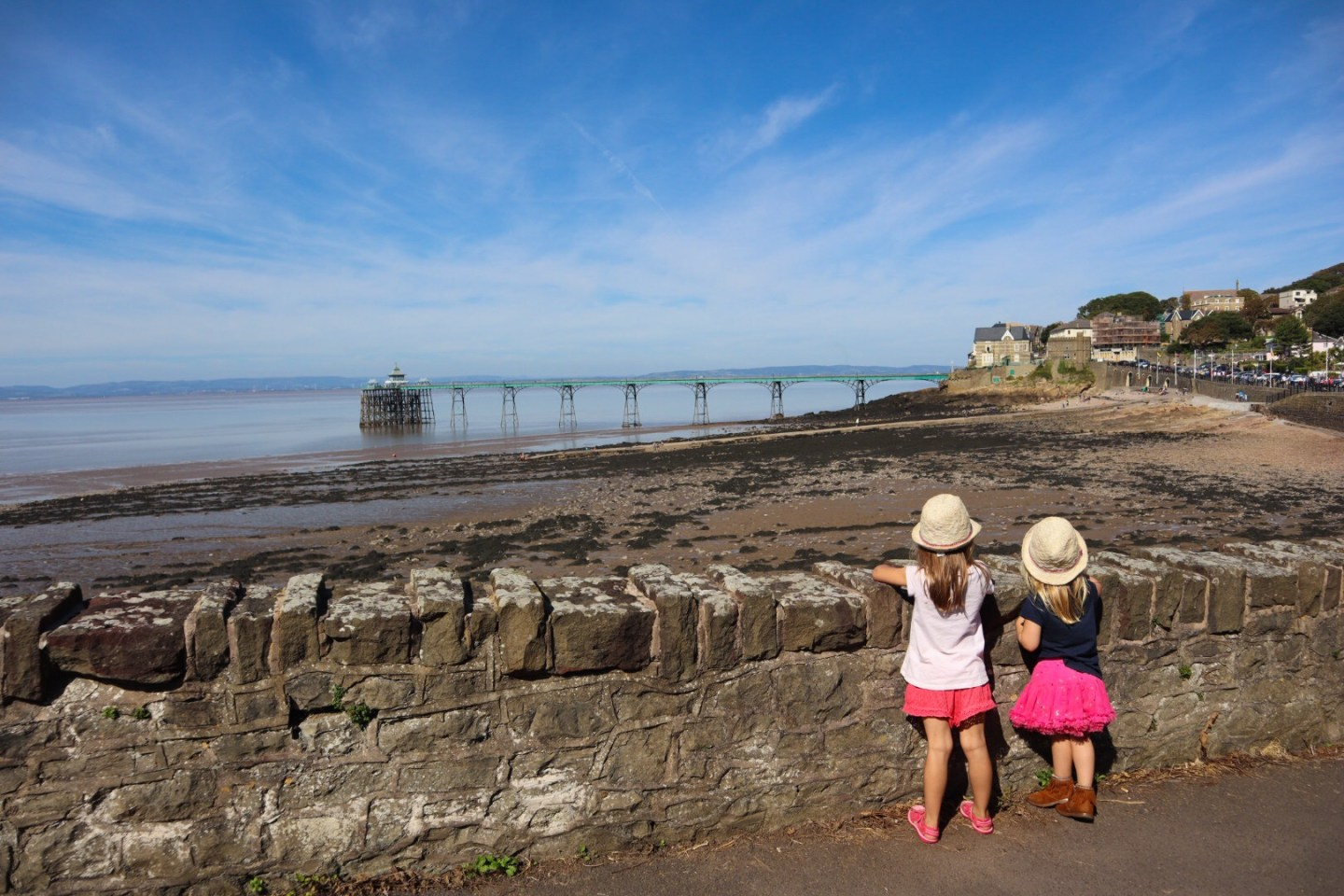 Clevedon pier with kids