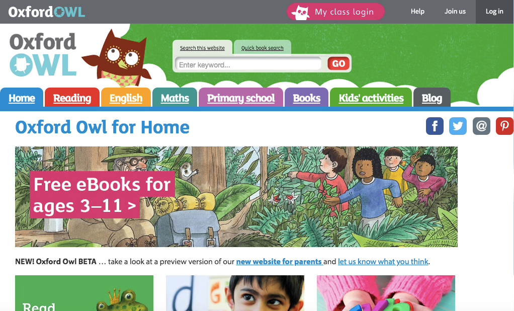 oxford owl for home learning: fun activities for kids