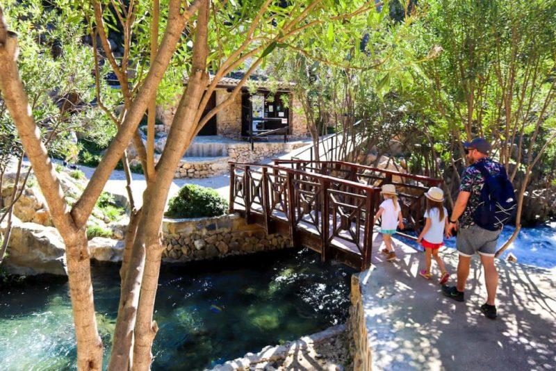 Algar waterfalls with kids