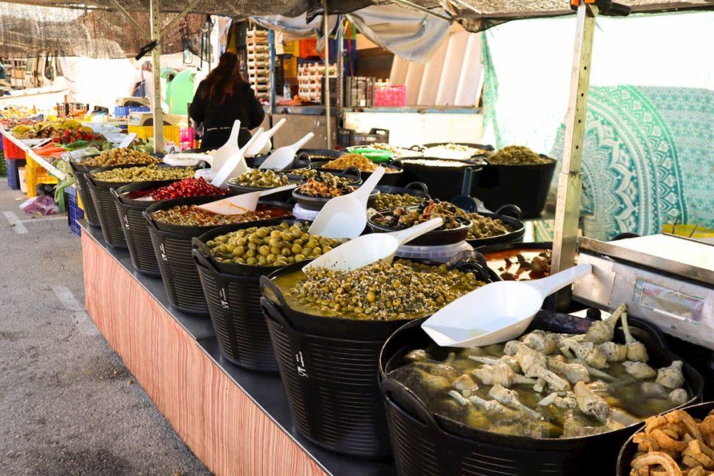 Olives at Moraira market