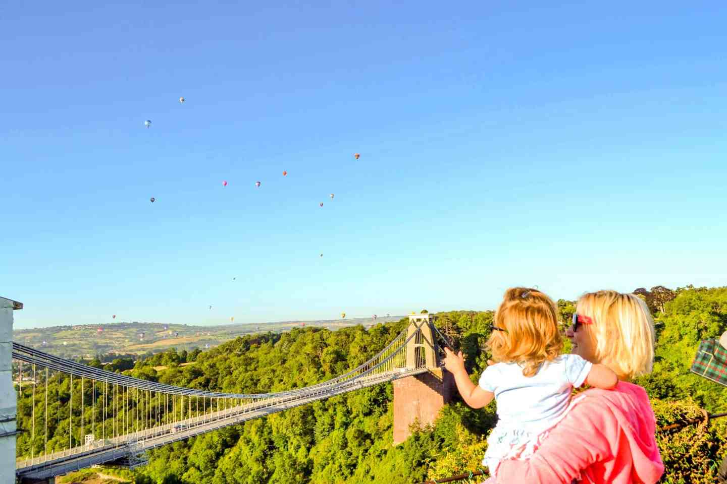 Watching balloons over Clifton Suspension Bridge