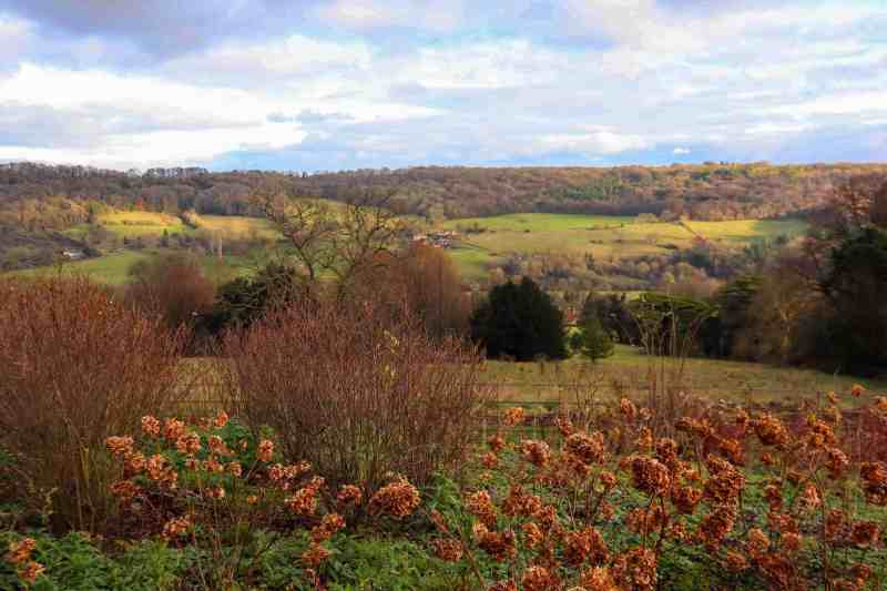 Limply Stoke valley - View from American Museum and gardens
