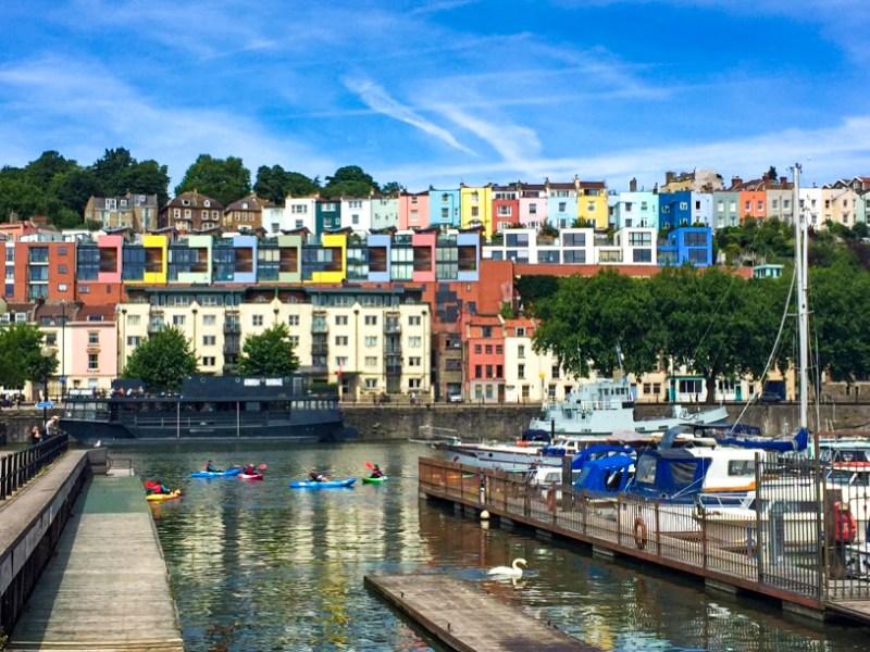 Bristol Harbourside rainbow housese