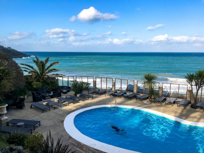C Bay spa swimming pool, Carbis Bay Hotel, Cornwall
