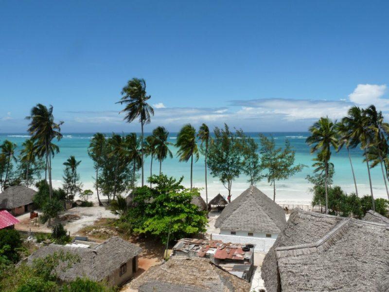 View of Indian Ocean in Zanzibar