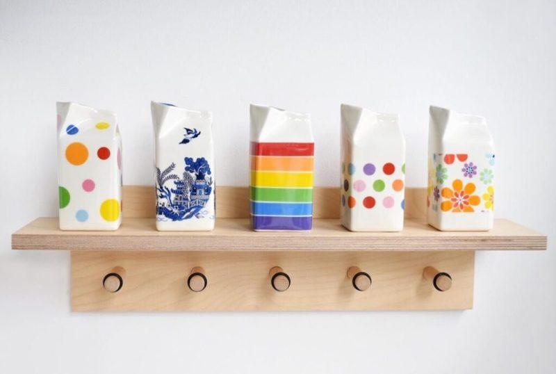 Milk jugs by Hanne Rysgaard