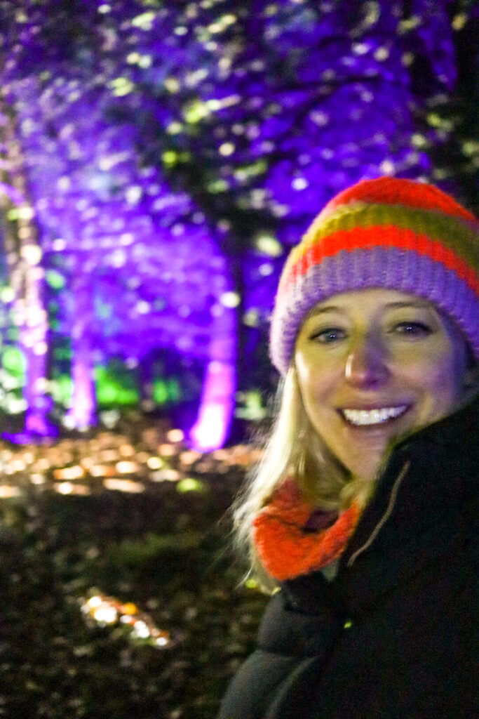 Me at Westonbirt Enchanted Christmas light trail