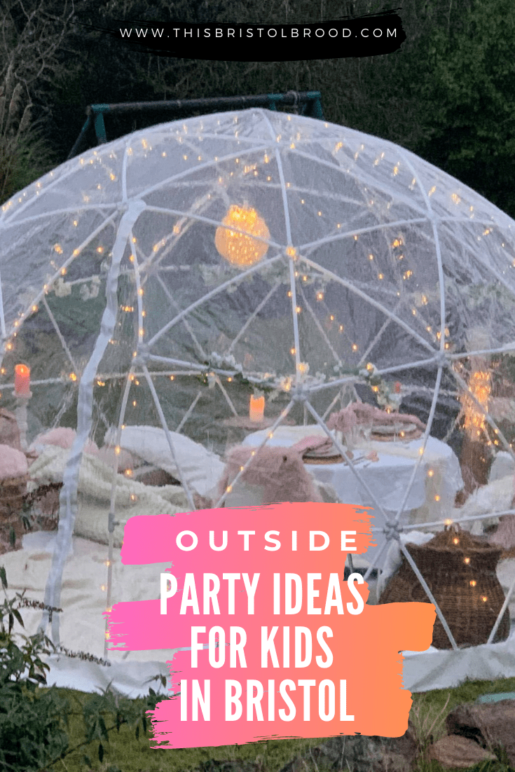 Outside birthday party ideas for kids in Bristol
