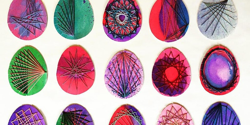 Woven eggs for Easter - things to do in bristol with kids
