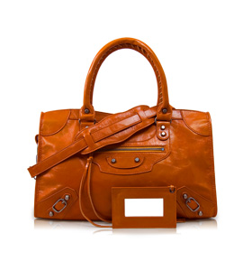 Orange Le Dix. Love Balenciaga but too small. Fits A4 but not much else