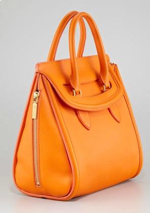 Alexander-McQueen-Heroine-Medium-Orange