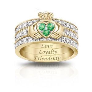 Emerald-Claddagh-Ring