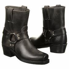 Frye Black Harness Boots, 8R