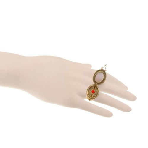 Open, showing the second heart ring in the secret compartment.