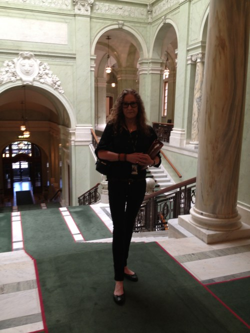 Main Staircase of Swedish Parliament after a lovely lunch with a student and friend. Photo by Eva Forsman