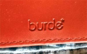 Burde Logo on Binder