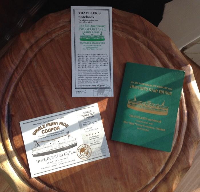 Star Edition passport notebook, ticket on Star Ferry (valid until 31 December 2013)