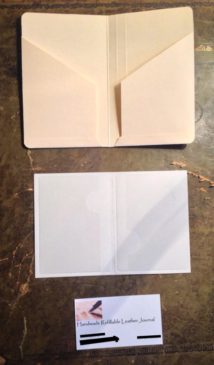 Cardboard pockets and adhesive plastic pockets