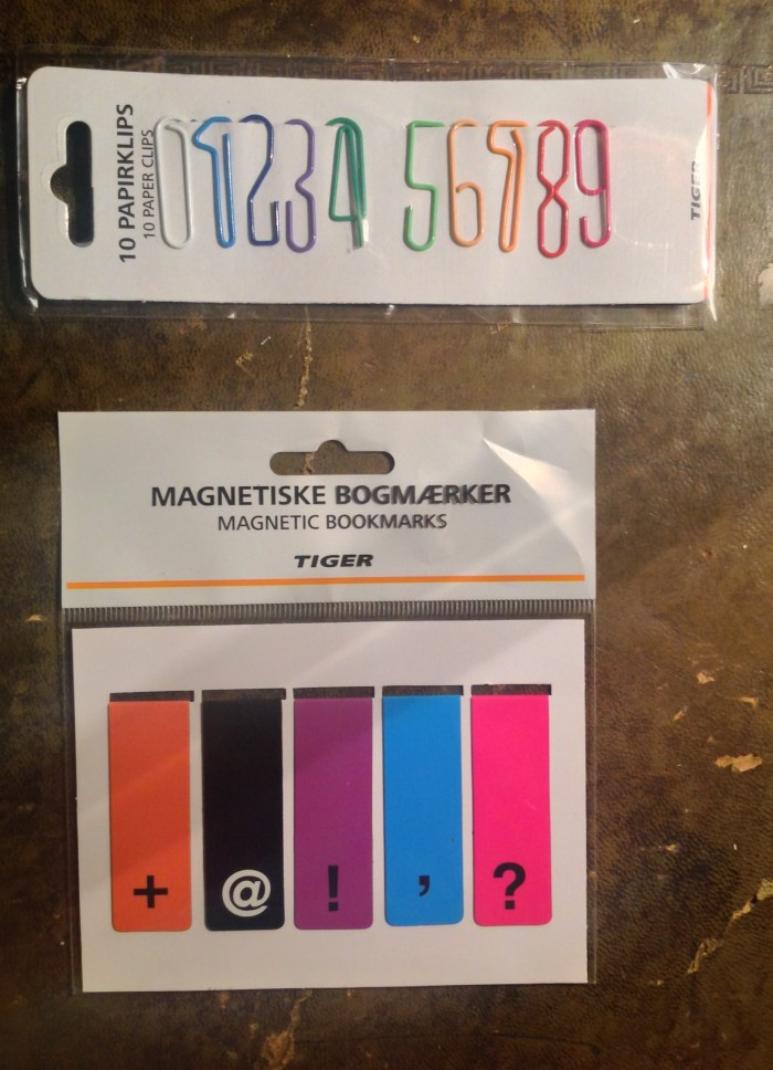 0 - 9 paperclips and magnetic bookmarks