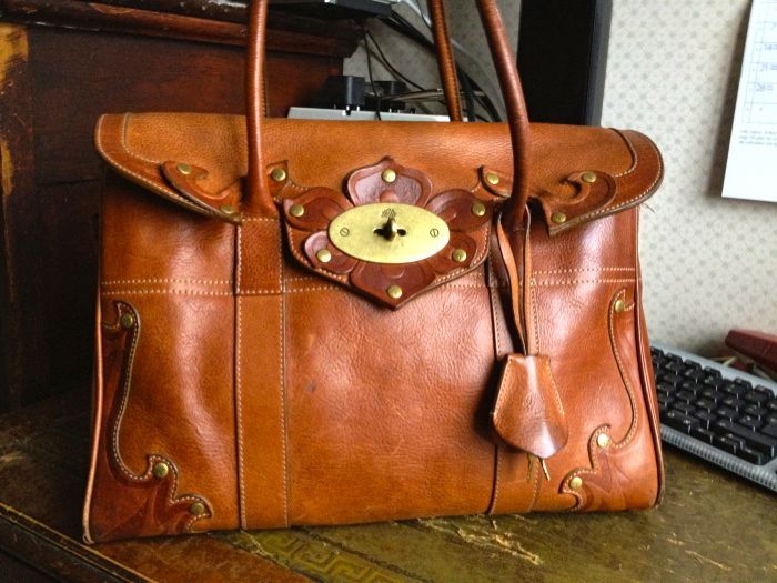 Tooled Mulberry Bayswater in Oak and Brown. Bought on sale at Heathrow Duty Free 2006