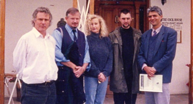 From left to right: Roland Stanbridge, Monty Cooper, me, Brett Lock and Guy Berger