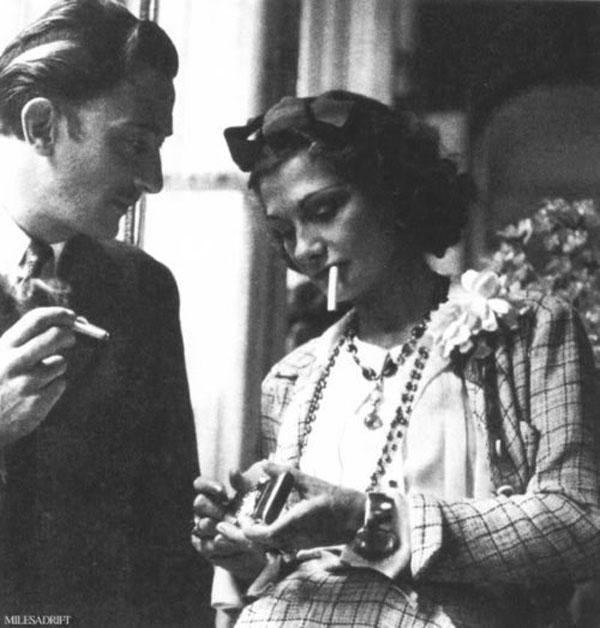 Salvadore Dali and Coco Chanel