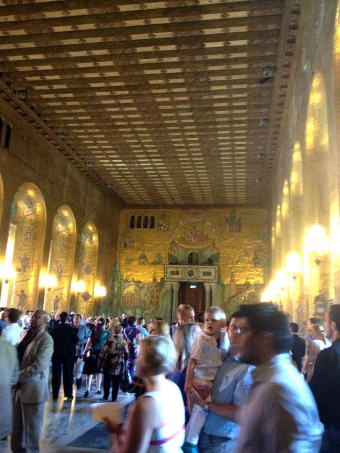 The Golden Hall - 18 million tiles of genuine gold leaf!