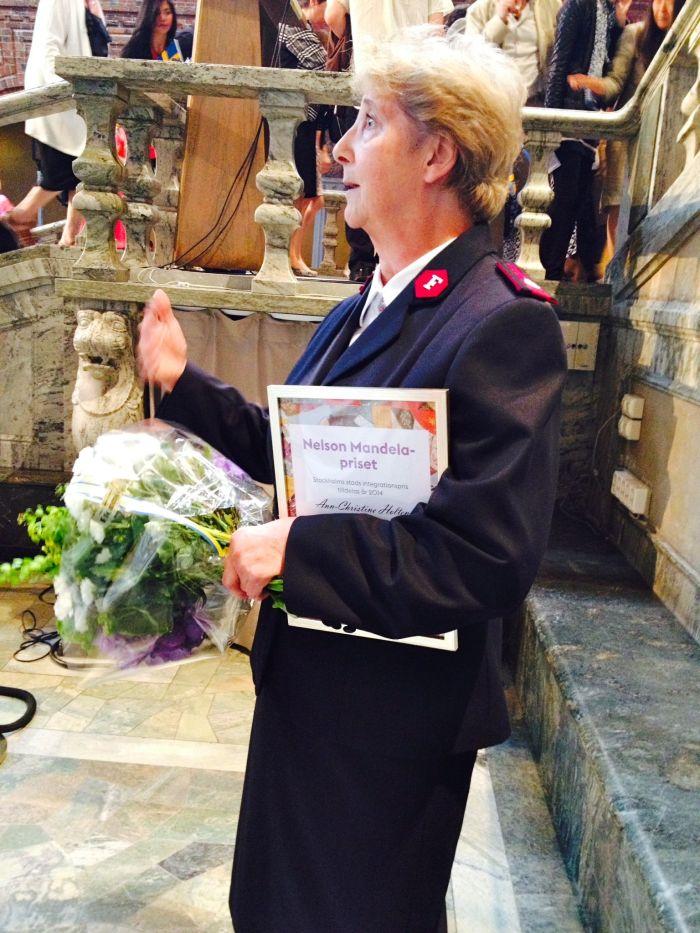 The winner of the 2014 Nelson Mandela prize, Ann-Christine Holten