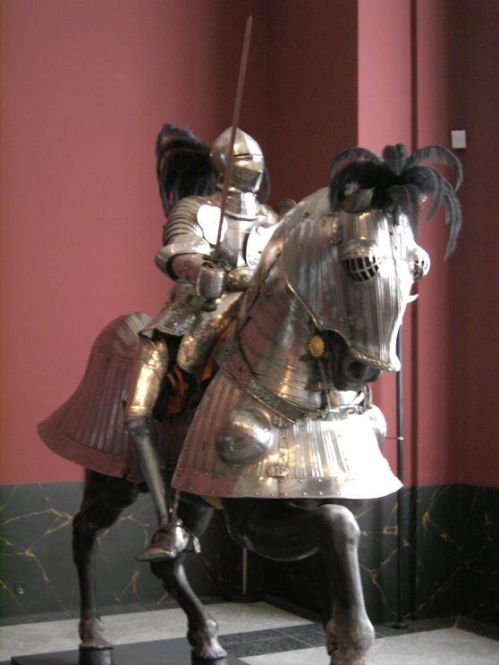 Battle horse with barding
