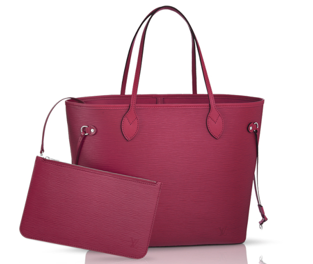 Louis-Vuitton-Epi-Neverfull-Bag-Fuchsia