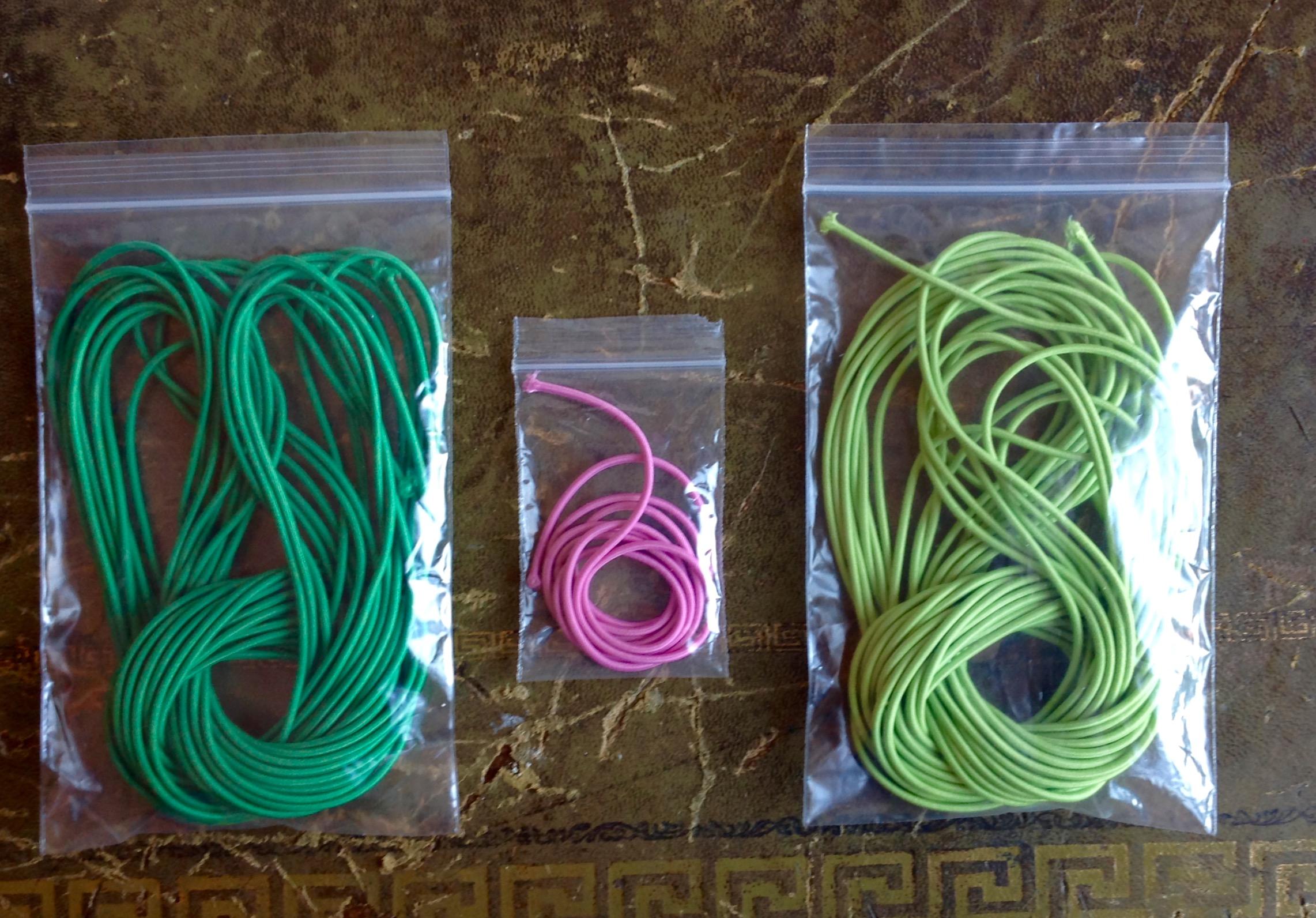 5 yards Iris 2mm Elastic Cord great for traveler/'s notebooks