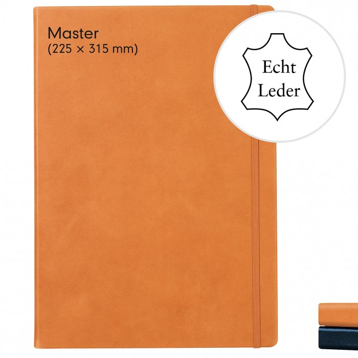 notebook-master-a4-hardcover-233-numbered-pages-dotted-leather-cognac-800088-1