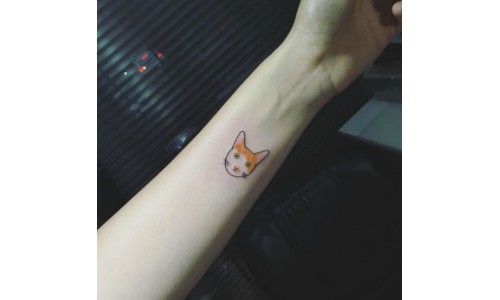 cat-tattoos-simple-cat-tattoo-with-color