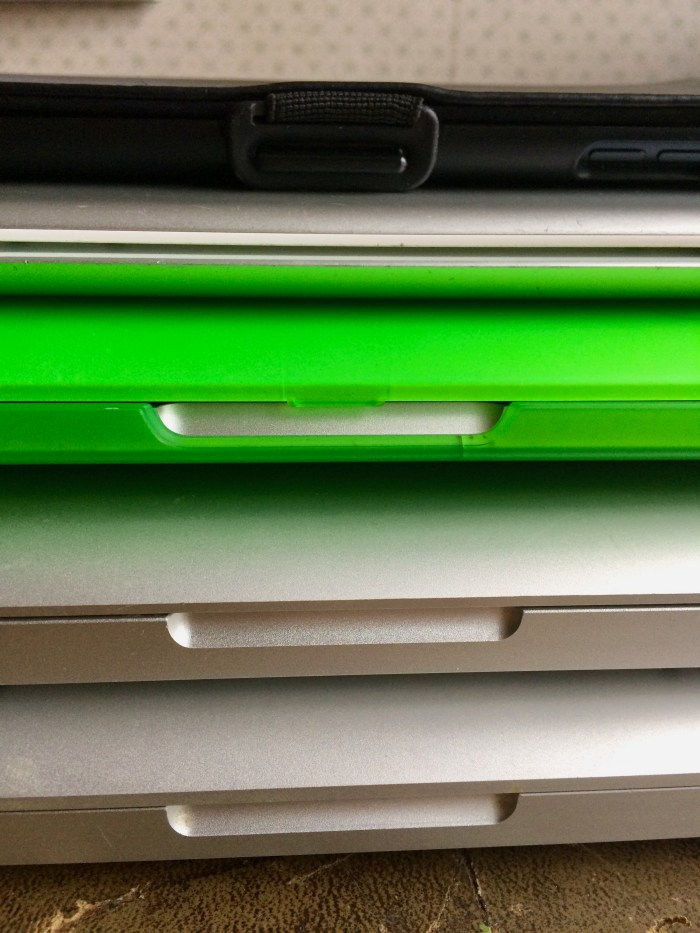 """I have covers on my iPad Mini and my 13"""" MacBook Pro. My regular-sized iPad has a keyboard that forms the cover but I don't use it so much anymore since I bought my 13"""" MacBook because I can carry that around more easily than the larger ones."""