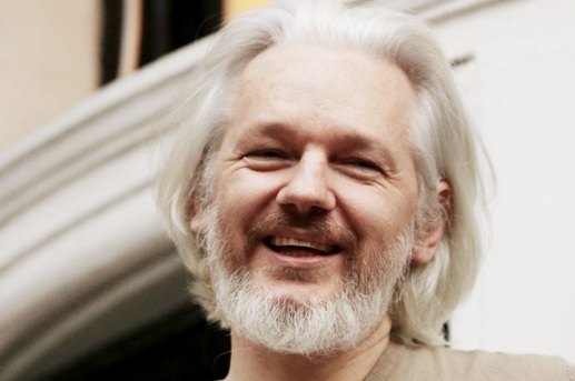 Image result for laughing julian assange