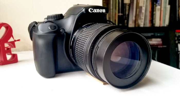 Canon EOS Rebel T3 with Opteka Achromatic 10x Diopter Close-Up M