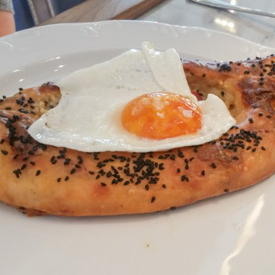Khachapuri at Walnut Street Cafe