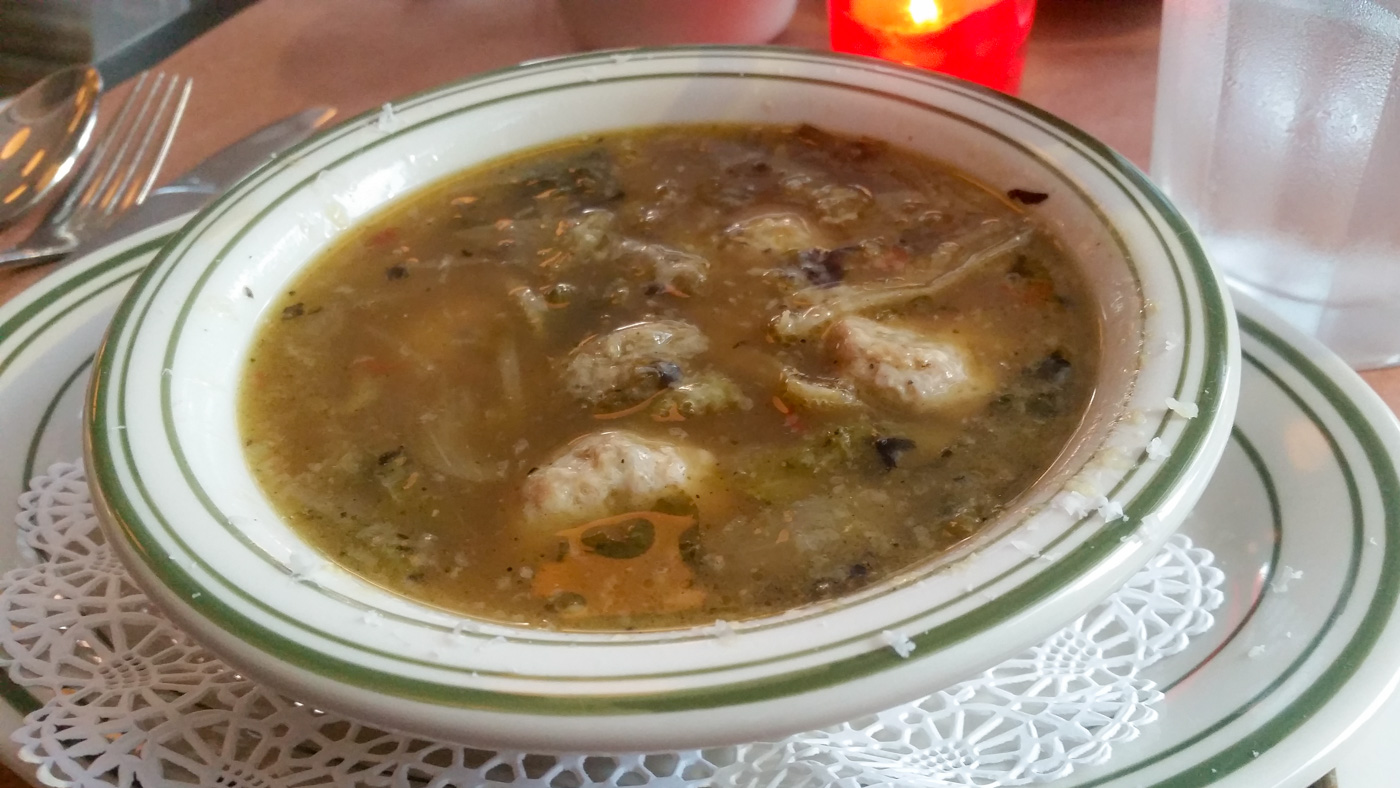 Italian Wedding Soup at Trattoria Carina