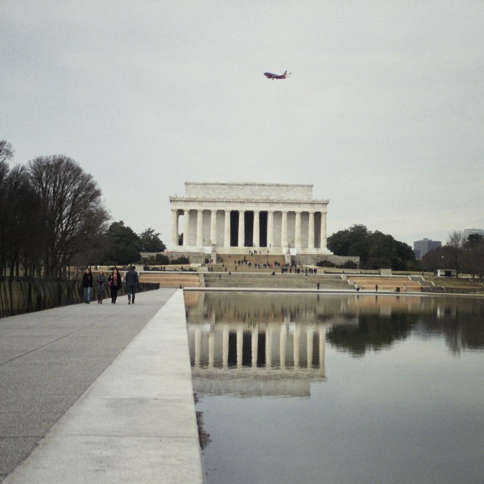 Lincoln Memorial and Airplane