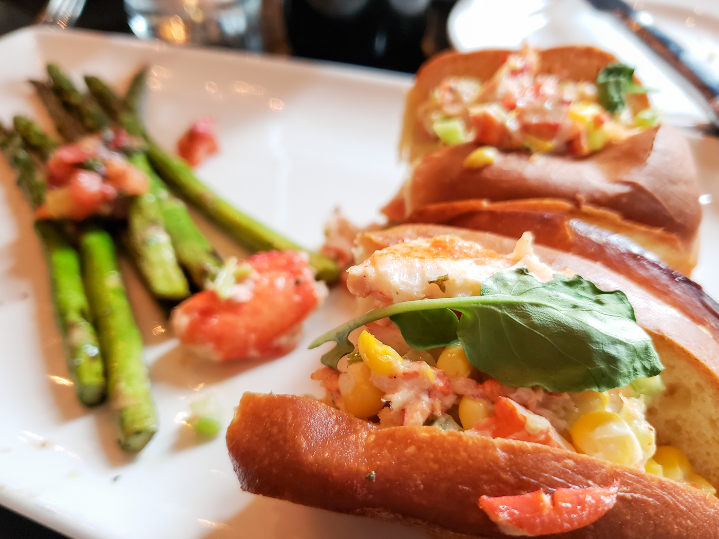 Lobster Roll at Devon Seafood Grill