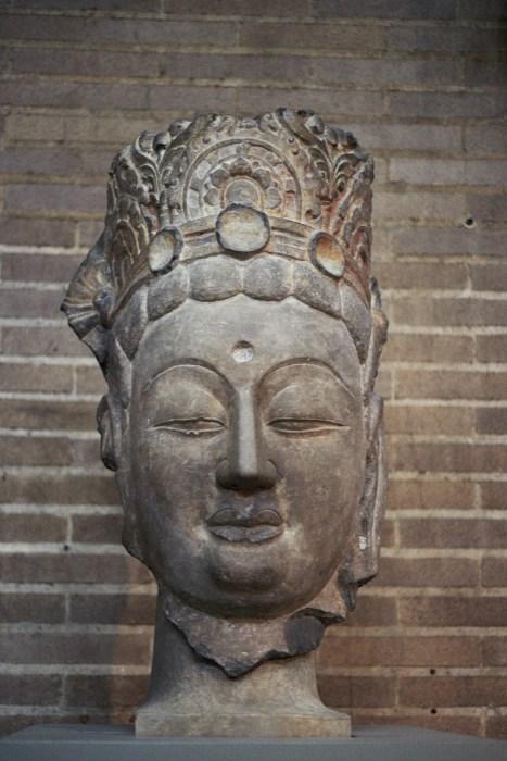 Head of a Bodhisattva at Penn Museum