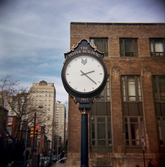 Pepper Building Clock