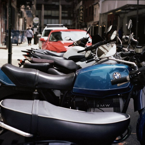 Row of Motorcycles