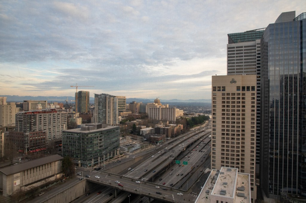 View from Our Hotel Room in Seattle