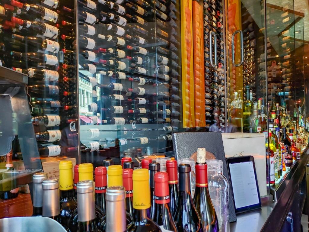 Wine at Lola Bistro