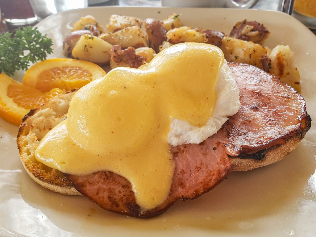 Carmel Benedict at Village Corner Bistro