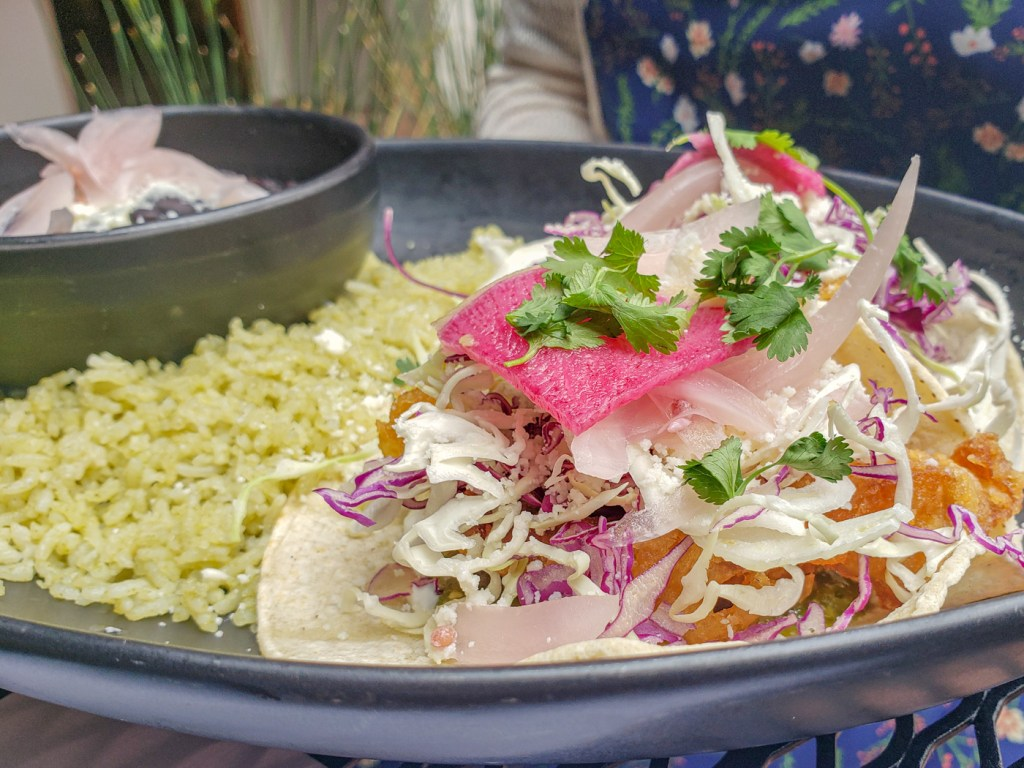 Baja Fish Tacos at Yeast of Eden